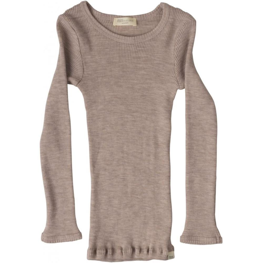 Merino Atlantic Seamless Rib Long Sleeve Top - Dusty Rose
