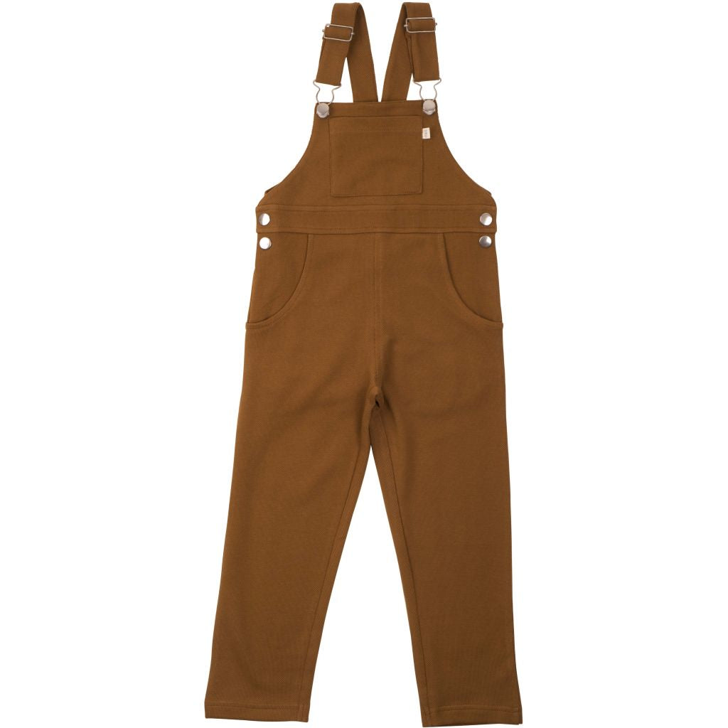 Organic Cotton Elda Overalls - Fudge