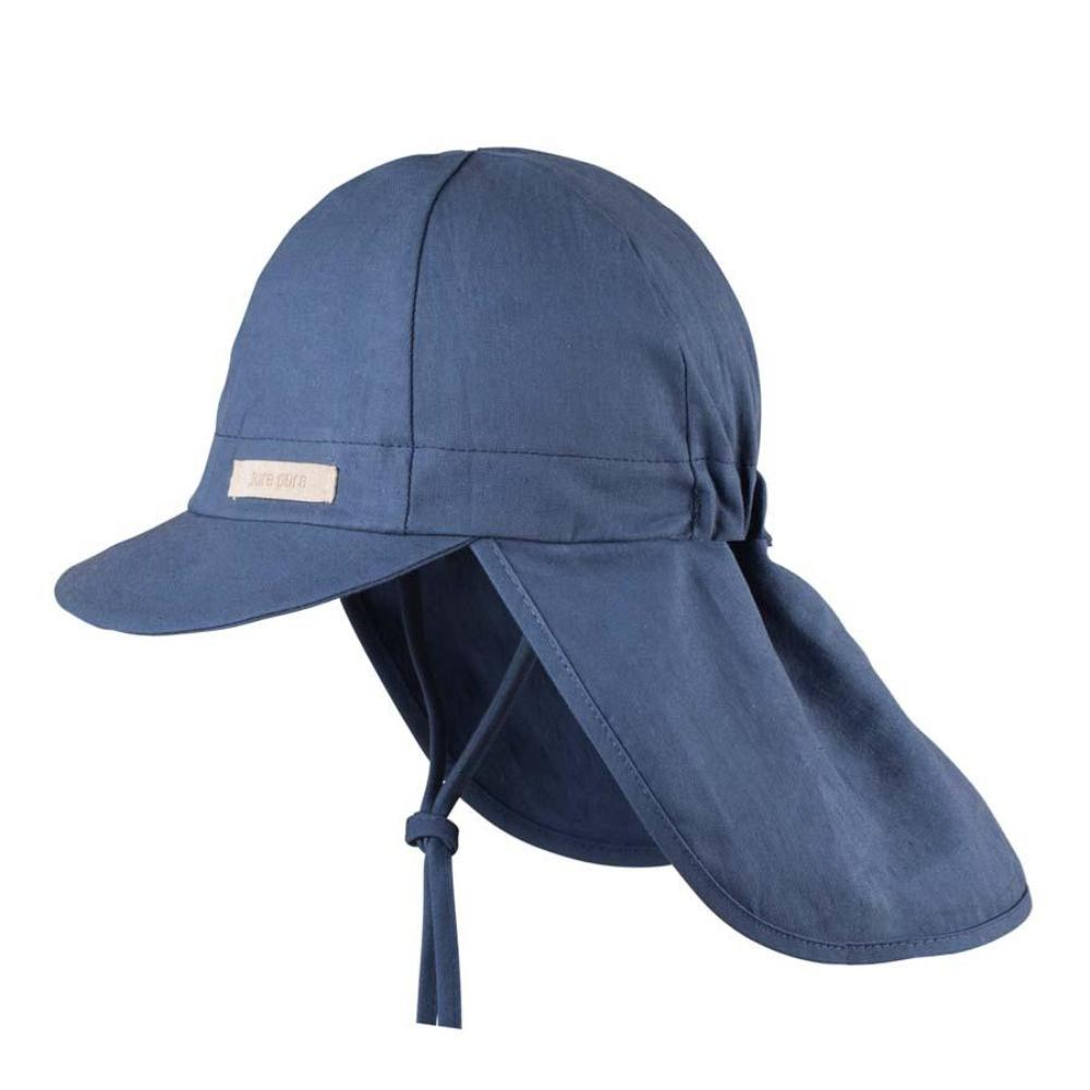 Organic Cotton Sun Protection Hat - Navy