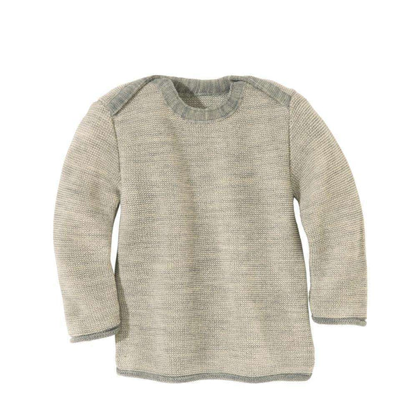 Disana Organic Merino Baby Jumper - Grey/Natural