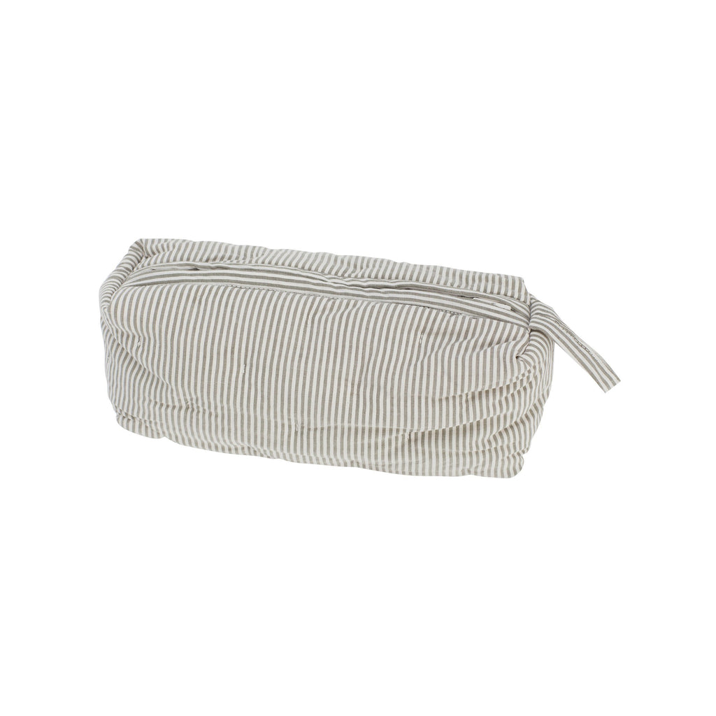 Organic Cotton Quilt Purse - Capers Stripe