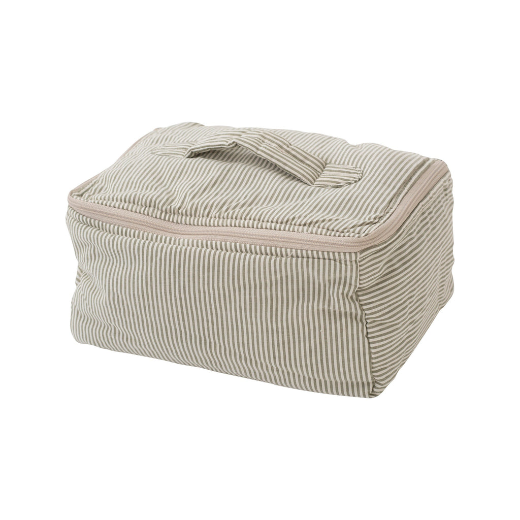 Organic Cotton Quilt Cosmetic Bag - Capers Stripe