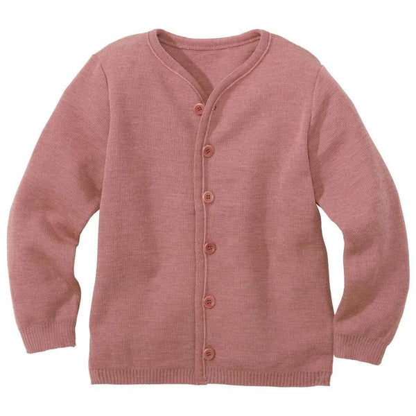 Disana Organic Merino Cardigan - Rose (1-2 & 9-10 left)