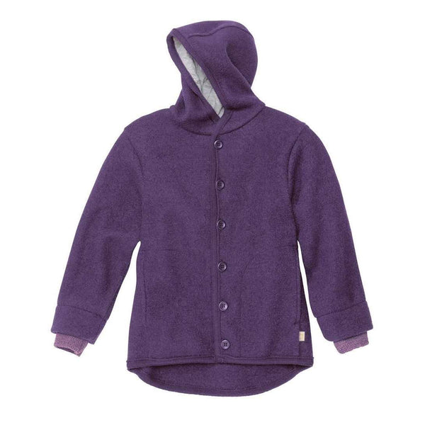 Boiled Wool Jacket - Plum