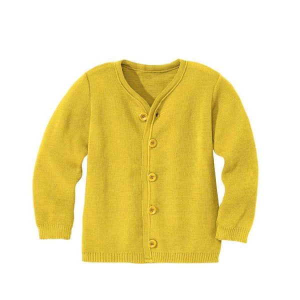 Disana Organic Merino Cardigan - Curry