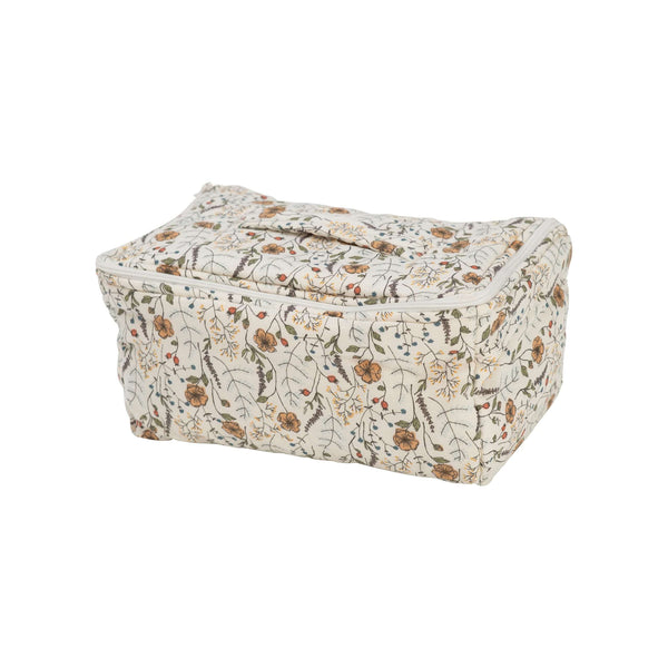 Organic Cotton Quilt Cosmetic Bag - Meadow