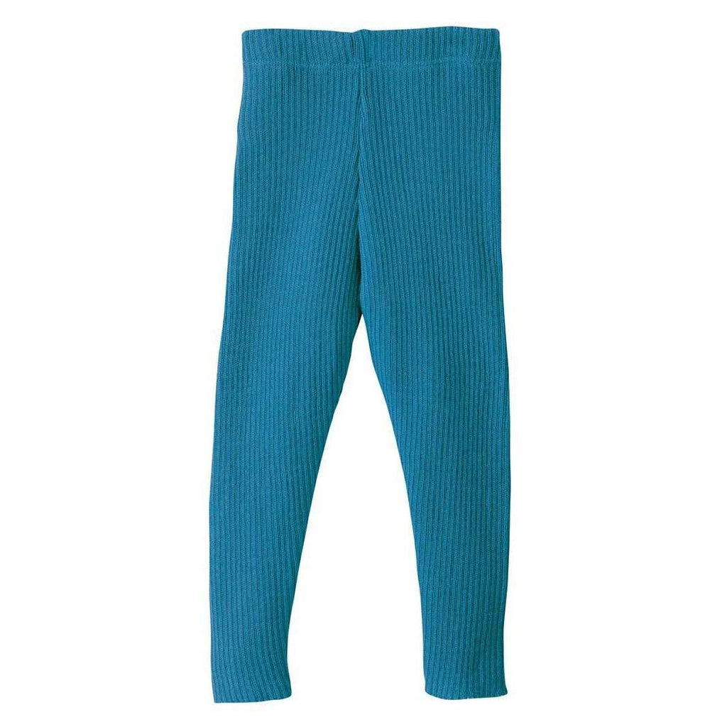 Organic Merino Leggings - Blue