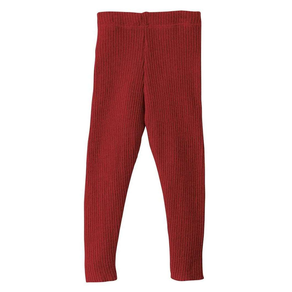 Organic Merino Leggings - Bordeaux