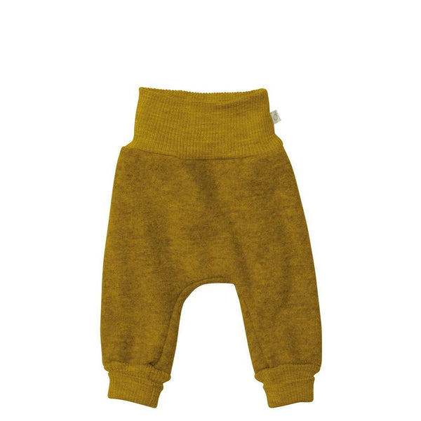 Boiled Wool Bloomer Pants - Gold