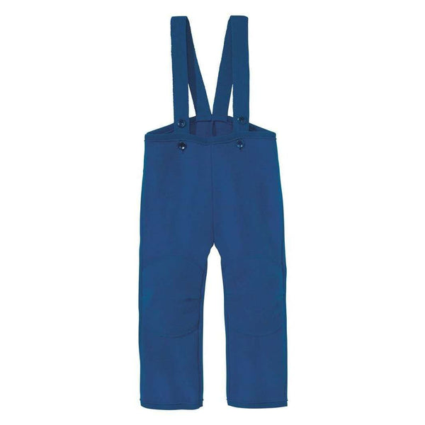 Organic Boiled Wool Dungarees - Navy