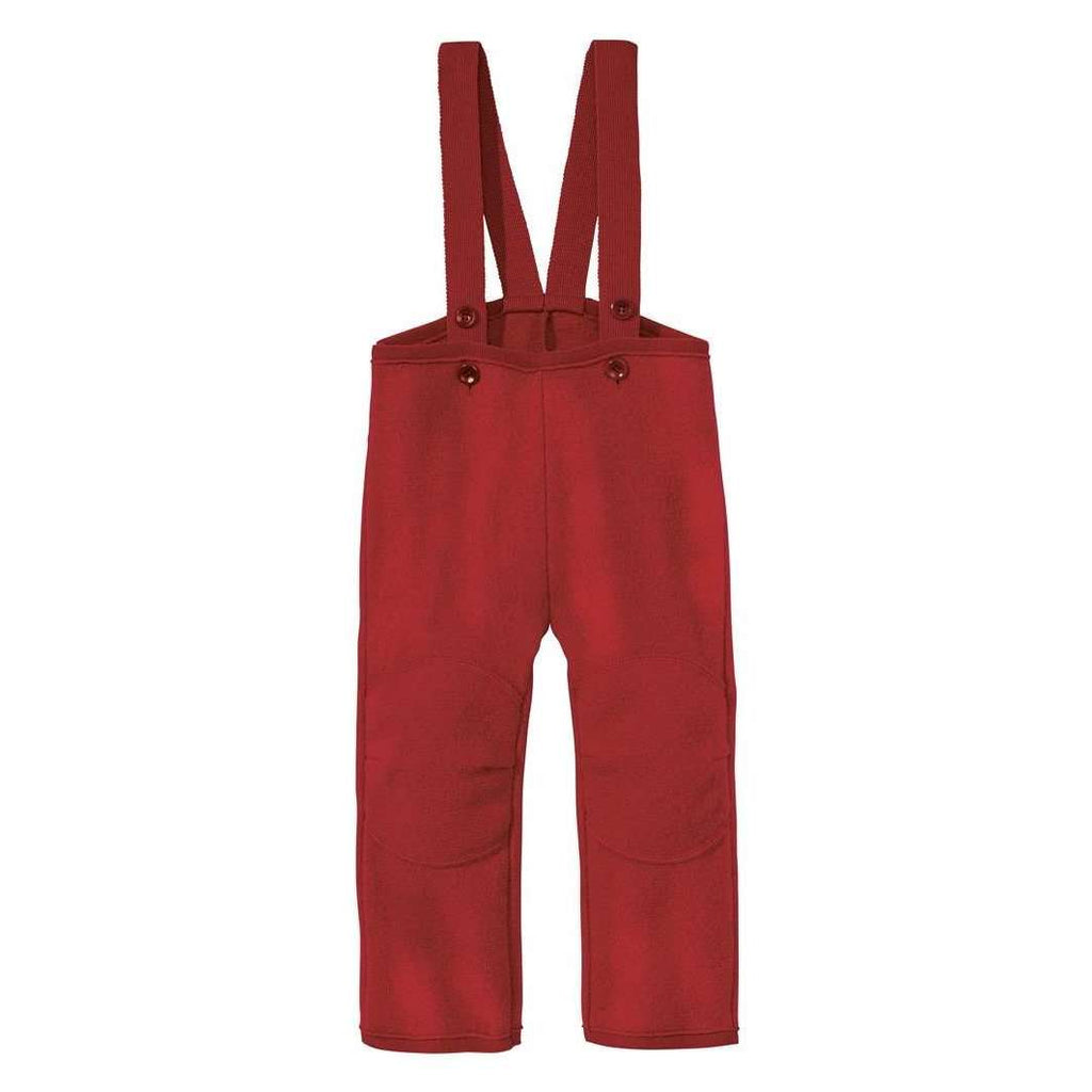 Organic Boiled Wool Dungarees - Bordeaux