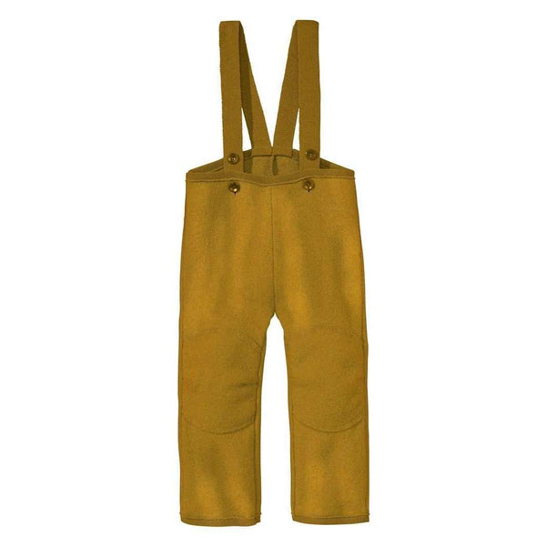 Organic Boiled Wool Dungarees - Gold
