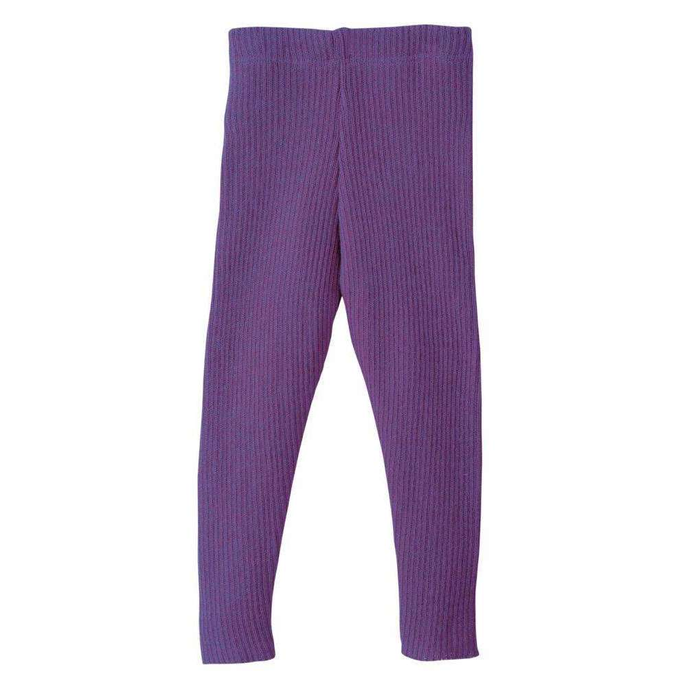 Organic Merino Leggings - Plum