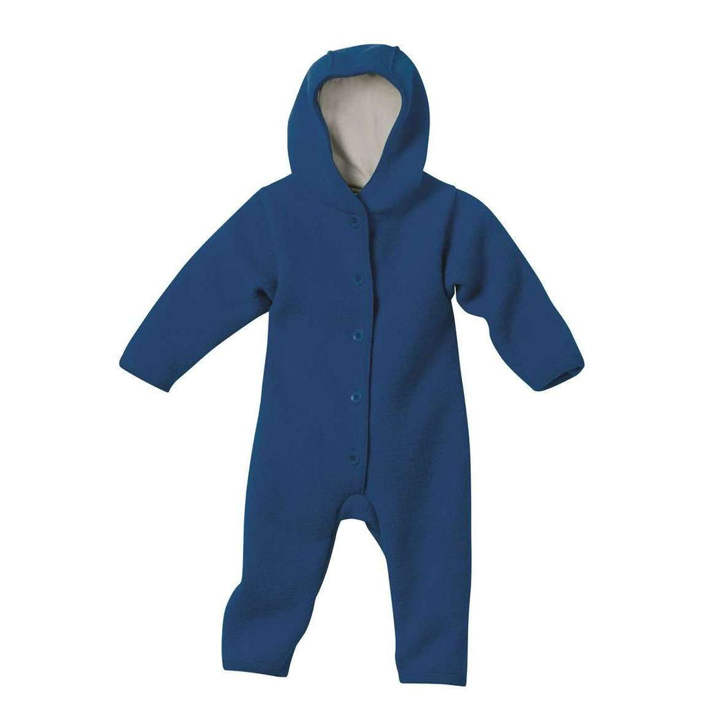 Boiled Wool Snuggle Suit - Navy