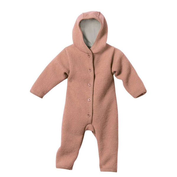 Boiled Wool Snuggle Suit - Rose