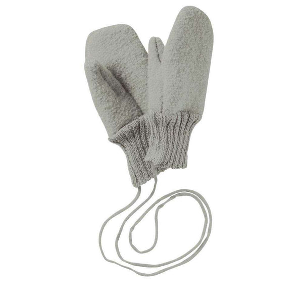 Boiled Wool Gloves - Grey