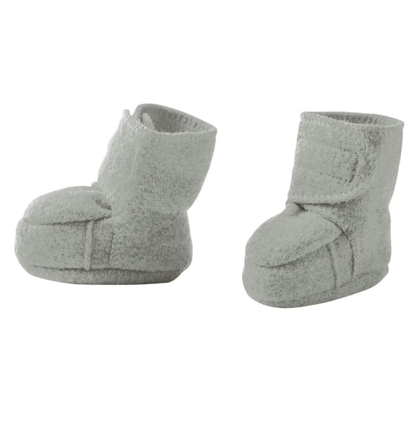 Disana Boiled Wool Booties - Grey