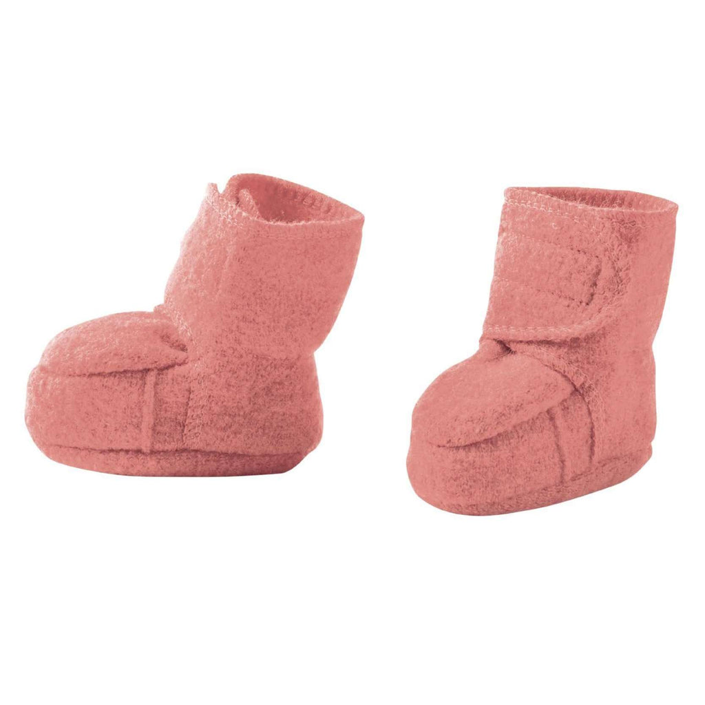 Disana Boiled Wool Booties - Rose