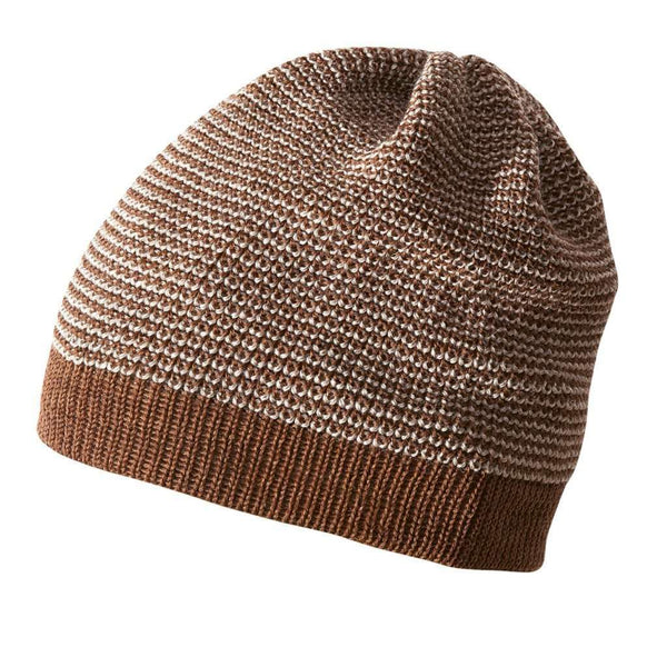 Disana Knitted Merino Beanie - Hazelnut/Grey