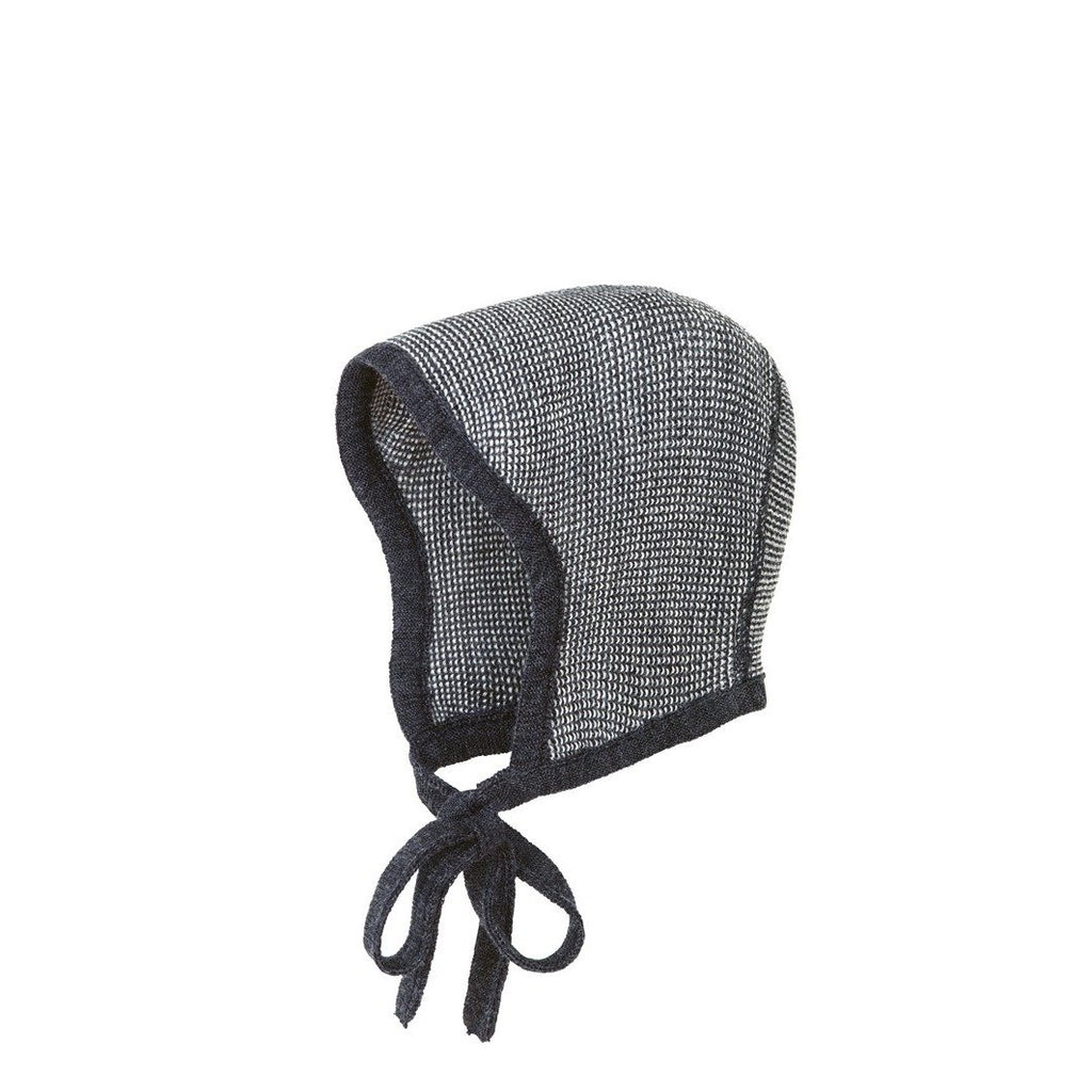 Disana Knitted Merino Bonnet - Anthracite/Grey