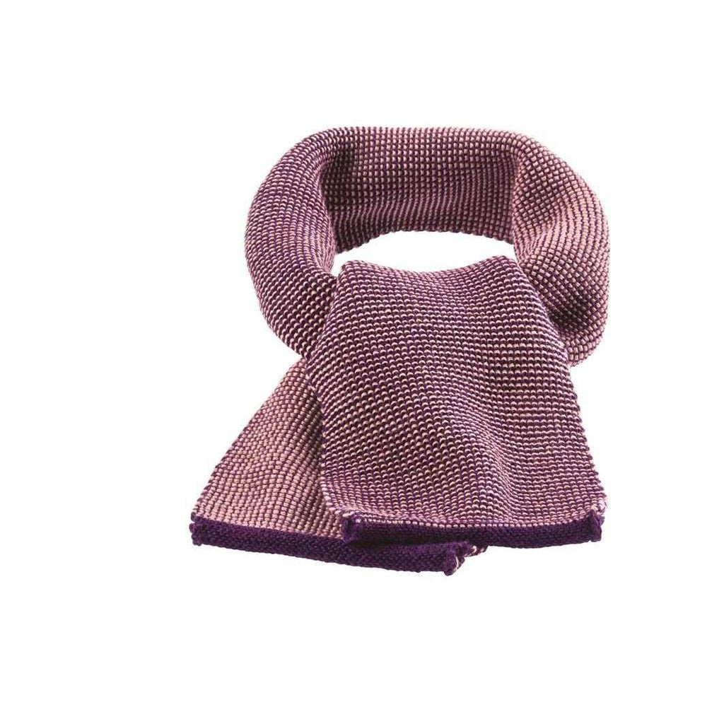 Disana Knitted Merino Scarf - Plum/Rose