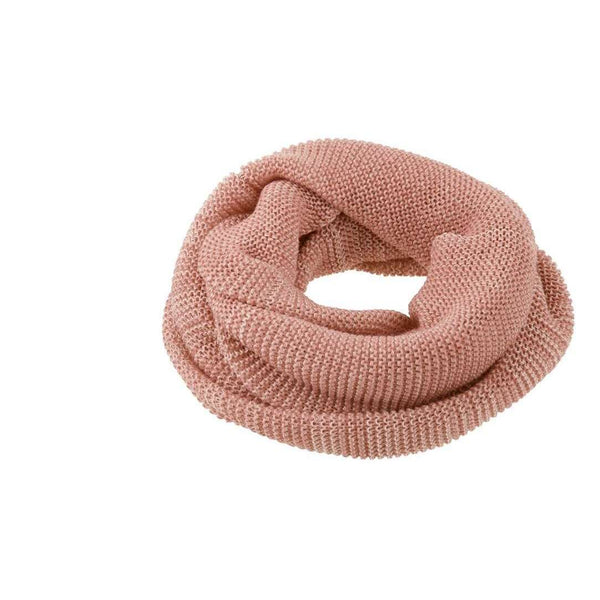 Organic Merino Adult Loop Scarf - Rose