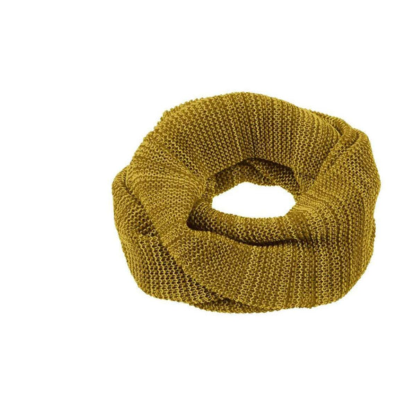 Organic Merino Adult Loop Scarf - Curry