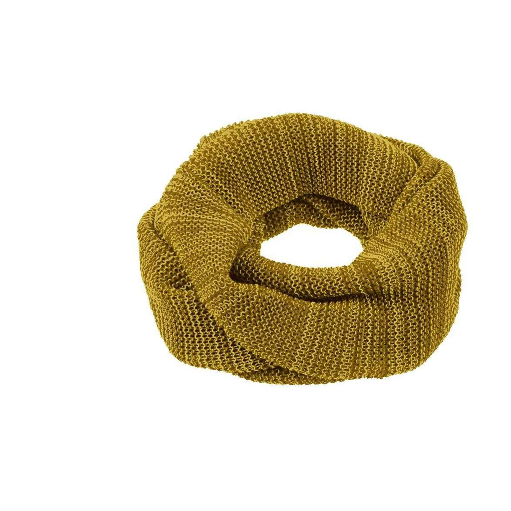 Organic Merino Child Loop Scarf - Curry/Gold