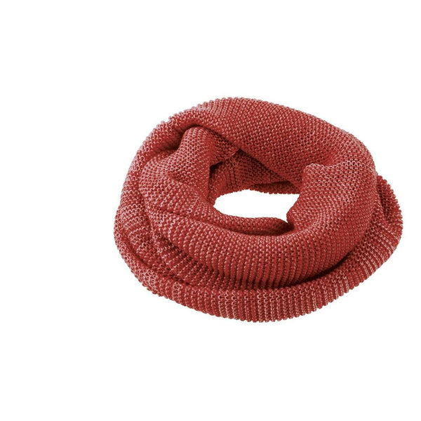 Organic Merino Adult Loop Scarf - Bordeaux