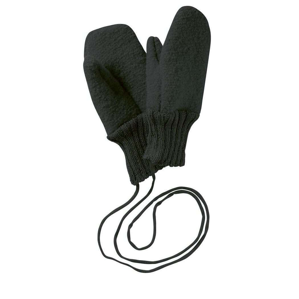 Boiled Wool Gloves - Anthracite