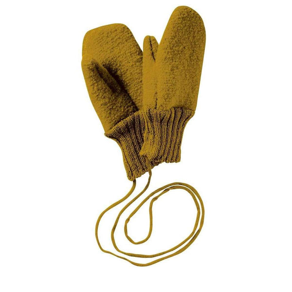 Boiled Wool Gloves - Gold