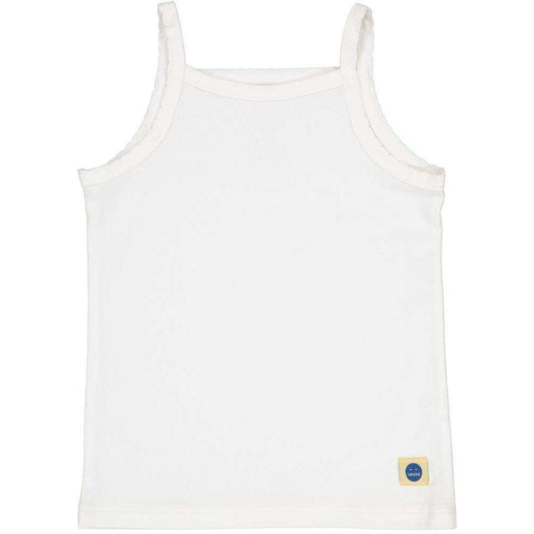 Ida Girls Singlet - White