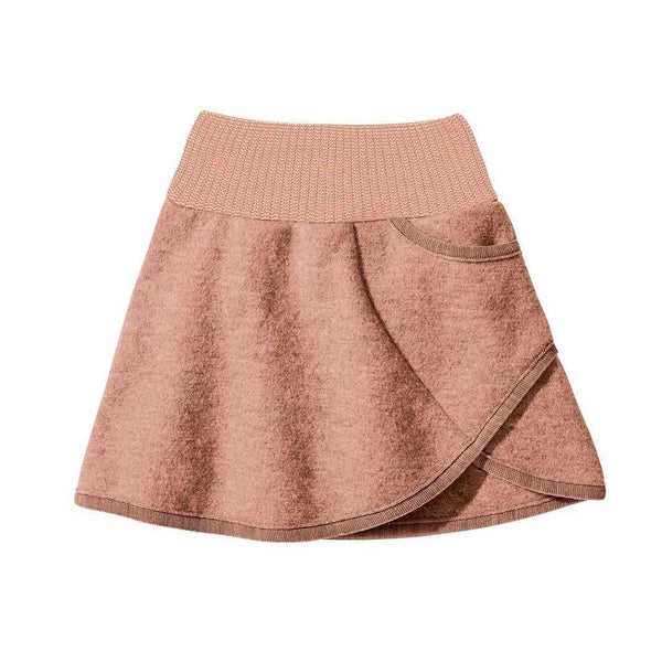 Organic Boiled Wool Skirt - Rose