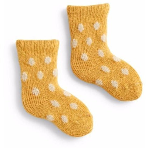Lisa b Baby Classic Dot Wool & Cashmere Socks - Yellow