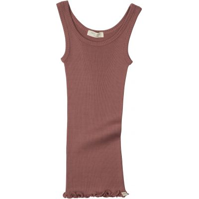 Silk/Cotton Billund Rib Tank Top - Antique Red