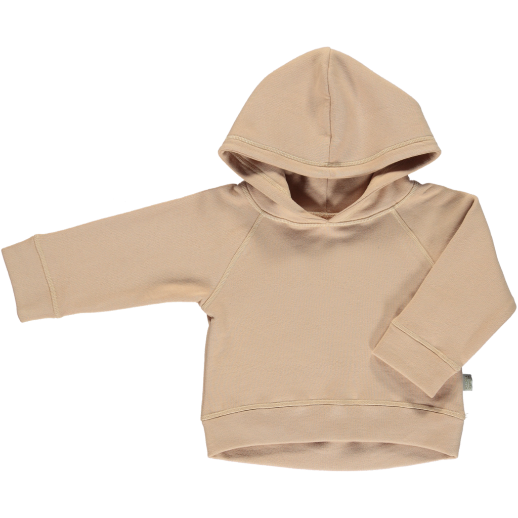 Organic Cotton Fleece Hooded Jumper - Maple Sugar