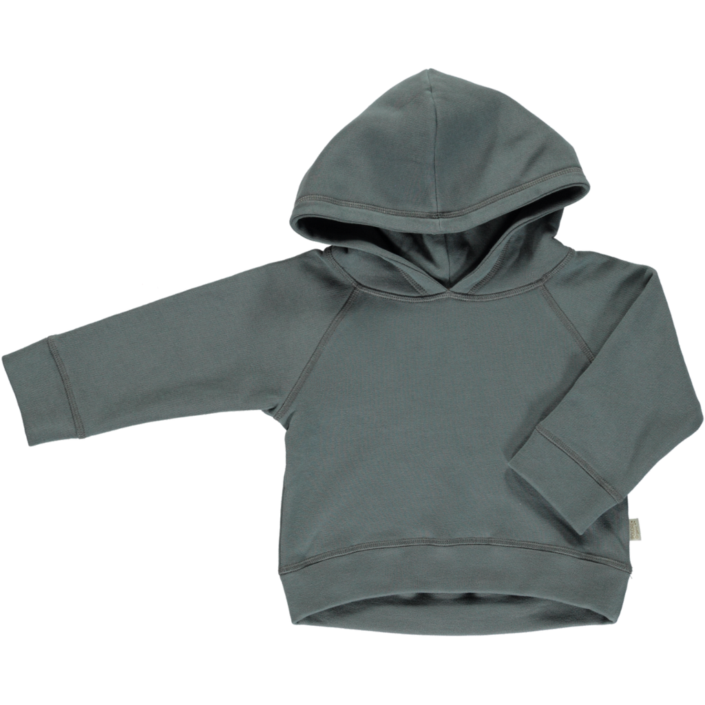Organic Cotton Fleece Hooded Jumper - Stormy Weather