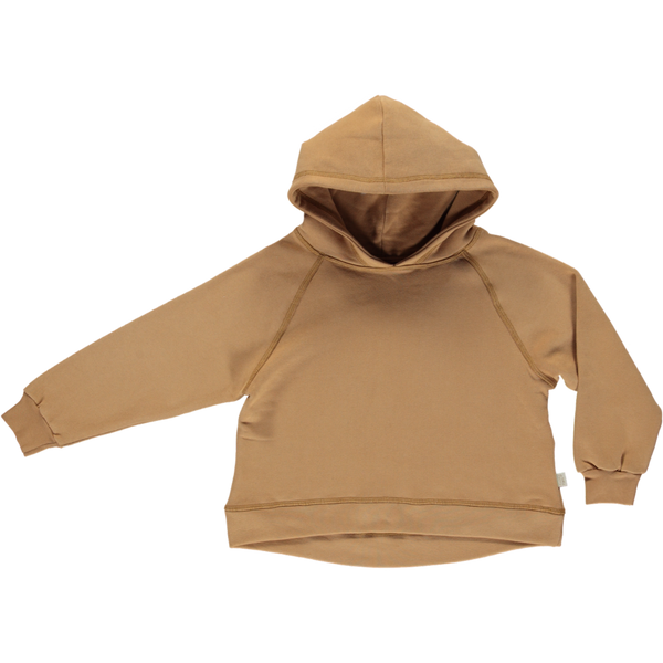 Organic Cotton Fleece Hooded Jumper - Brown Sugar