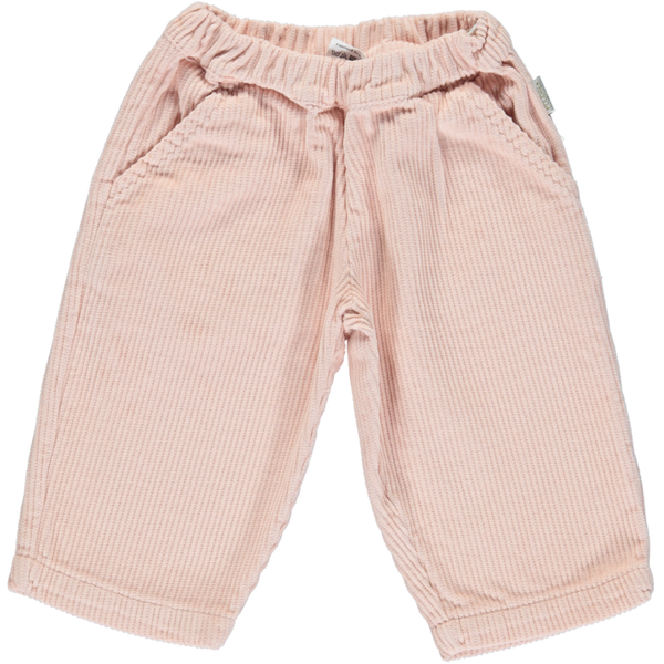 Organic Cotton Chunky Corduroy Pants - Evening Sand