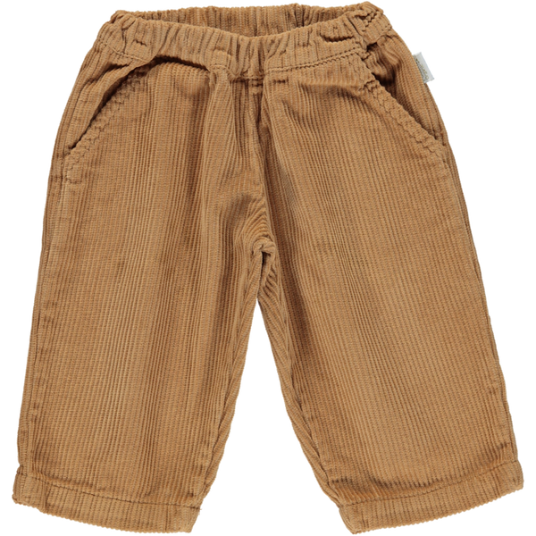 Organic Cotton Chunky Corduroy Pants - Brown Sugar