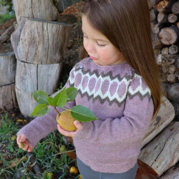 Serendipity Organics Alpaca Raglan Jumper - Rose (sizes 2-5)
