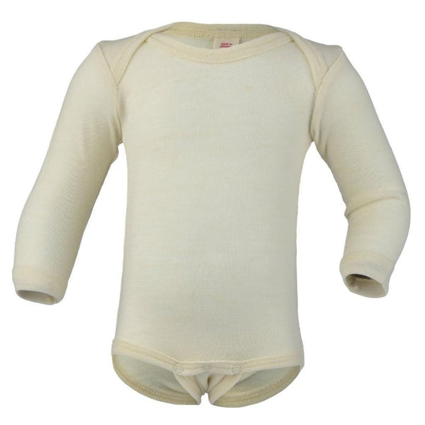 Engel Wool Long Sleeved Bodysuit – Natural