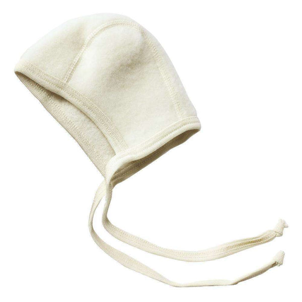 Engel Fleecy Baby Bonnet - Natural