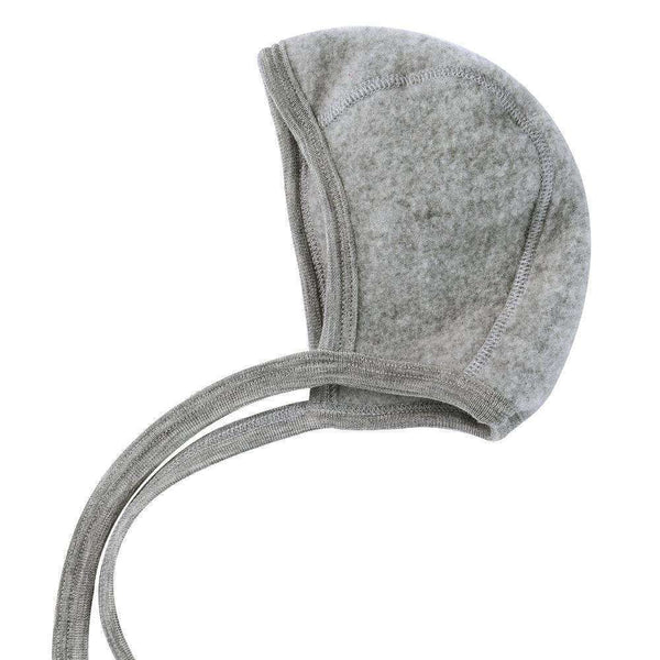Engel Fleecy Baby Bonnet - Grey