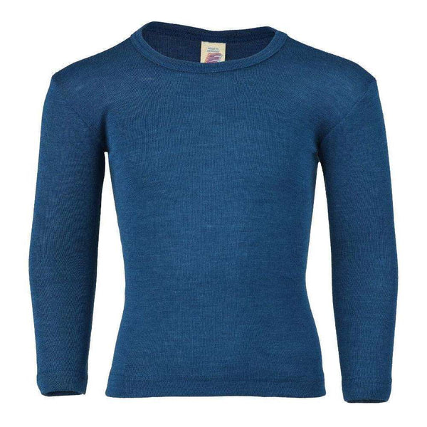 Engel Long Sleeved Top in Wool/Silk - Light Ocean