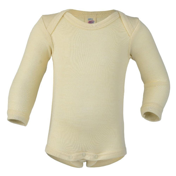 Engel Wool/Silk Long Sleeved Bodysuit – Natural