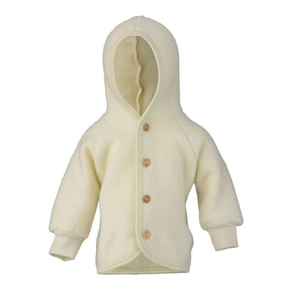 Engel Organic Merino Fleecy Jacket - Natural (last one 0-3m)