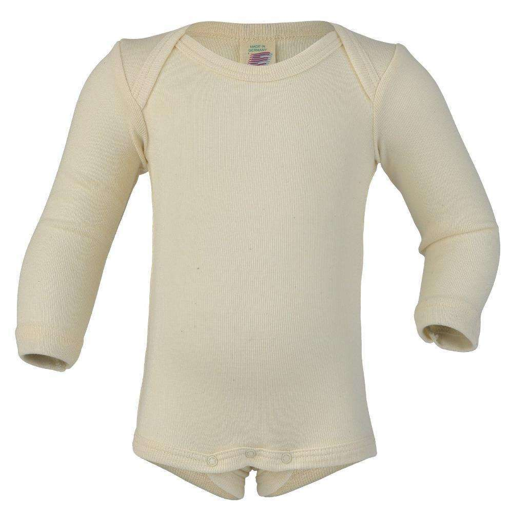 Engel Organic Cotton Long Sleeved Bodysuit – Natural