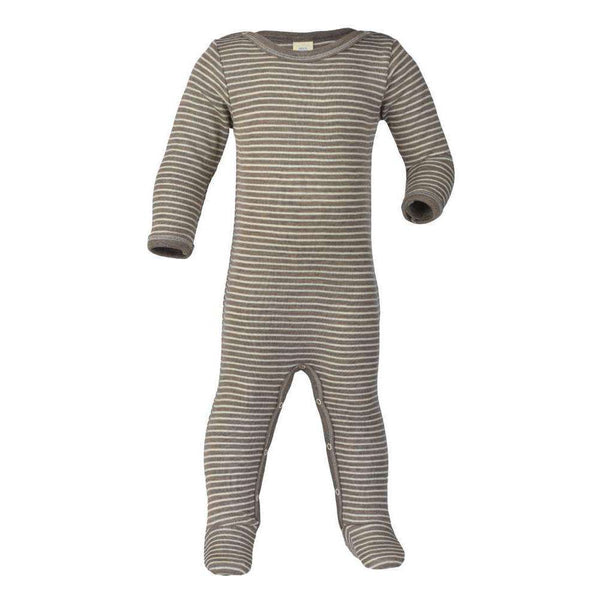 Engel Organic Wool/Silk Jumpsuit - Walnut Stripe