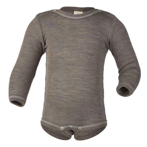 Engel Wool/Silk Bodysuit Long Sleeved - Walnut
